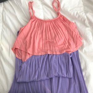 Two-tone Toni Maxi dress